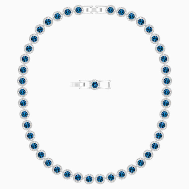 Κολιέ Angelic, μπλε, επιροδιωμένο - Swarovski, 5482698