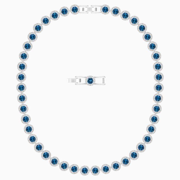 Angelic 項鏈, 藍色, 鍍白金色 - Swarovski, 5482698