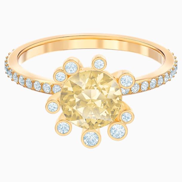 Olive 戒指, 彩色设计, 镀金色调 - Swarovski, 5482704