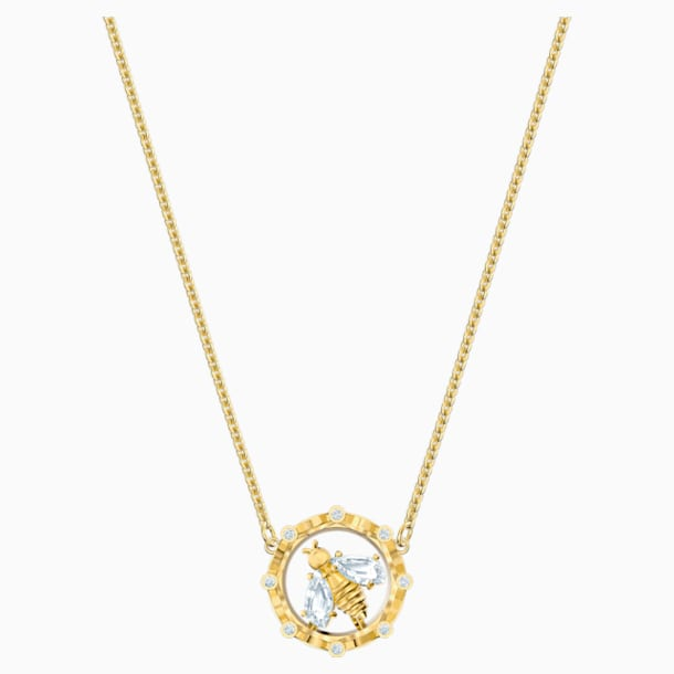 Bee A Queen Necklace, White, Gold-tone plated - Swarovski, 5482793
