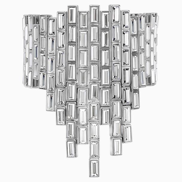 Fluid Azzurro Bracelet, Gray, Palladium plated - Swarovski, 5483204