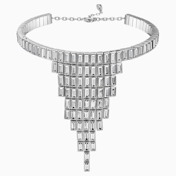 Fluid Azzurro Necklace, Grey, Palladium plated - Swarovski, 5483219