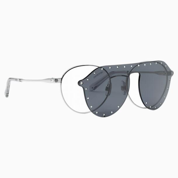 Okulary przeciwsłoneczne Swarovski z nakładką SK0275-H 52016, szare - Swarovski, 5483807