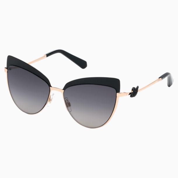 Okulary przeciwsłoneczne Swarovski, SK0220-05B, czarne - Swarovski, 5483808