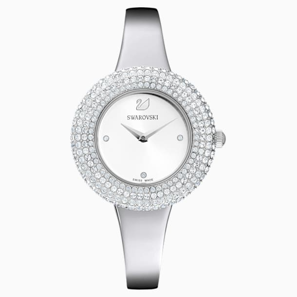 Crystal Rose Watch, Metal bracelet, Silver tone, Stainless steel - Swarovski, 5483853