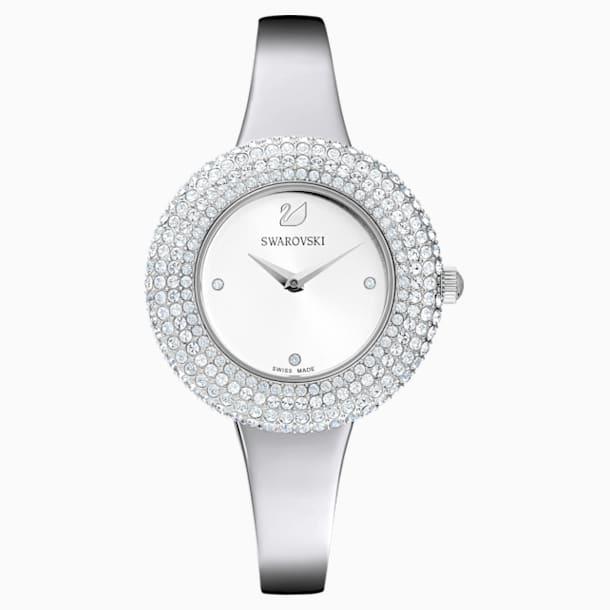 Crystal Rose Watch, Metal bracelet, Silver tone, Stainless steel - Swarovski, 5483853