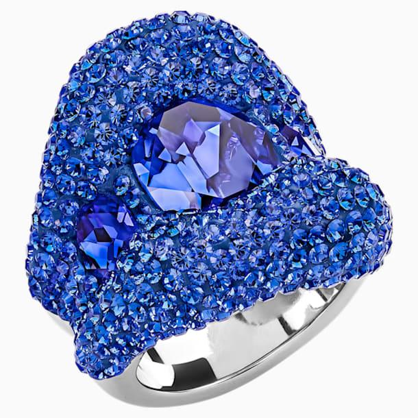 Tigris Ring, Blue, Palladium plated - Swarovski, 5483921