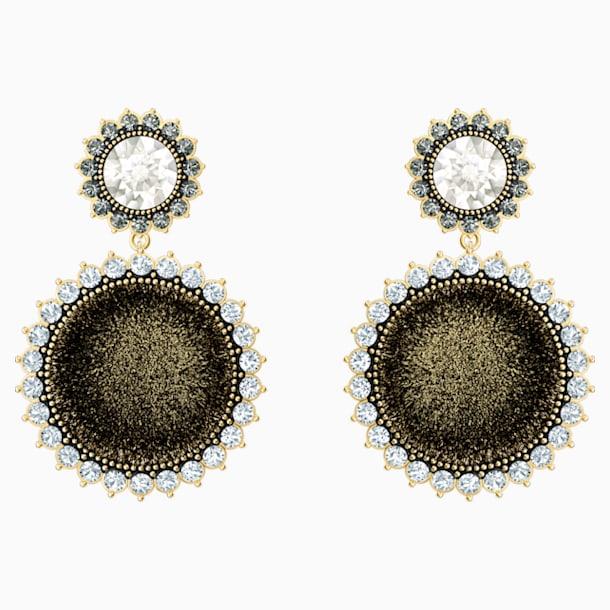 Millennium Drop Pierced Earrings, Multi-coloured, Gold-tone plated - Swarovski, 5484152