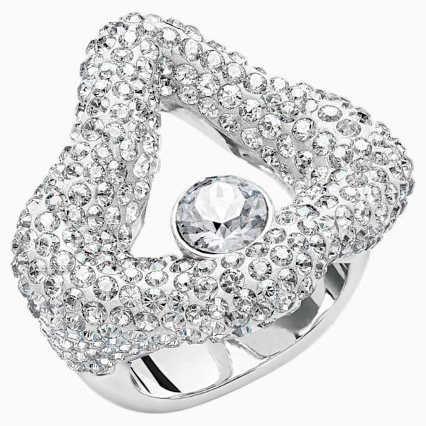 Tigris 開口戒指, 灰色, 鍍鈀色 - Swarovski, 5484500