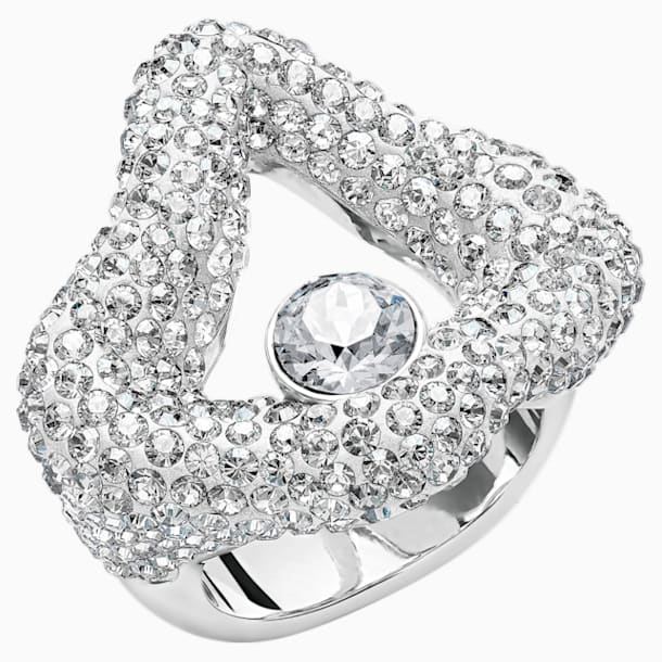 Tigris Open Ring, Grey, Palladium plated - Swarovski, 5484500