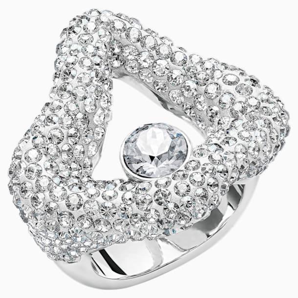 Tigris Open Ring, Grey, Palladium plated - Swarovski, 5484501