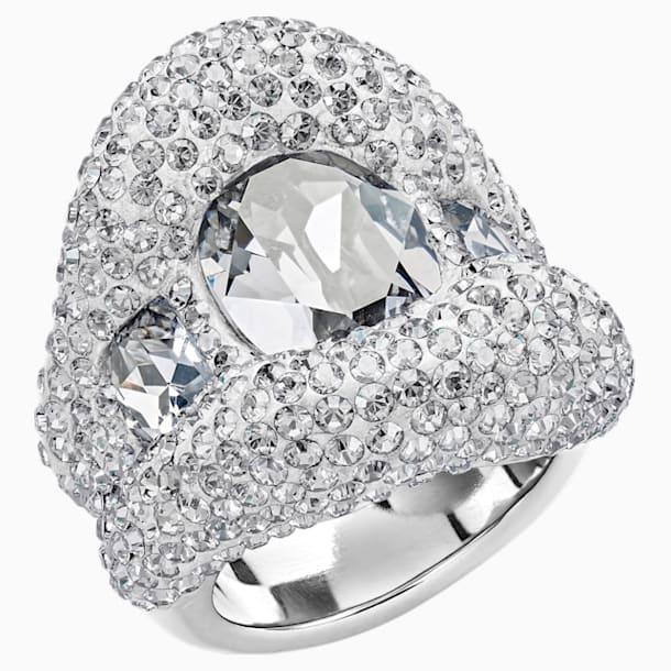 Tigris Ring, Gray, Palladium plated - Swarovski, 5484508