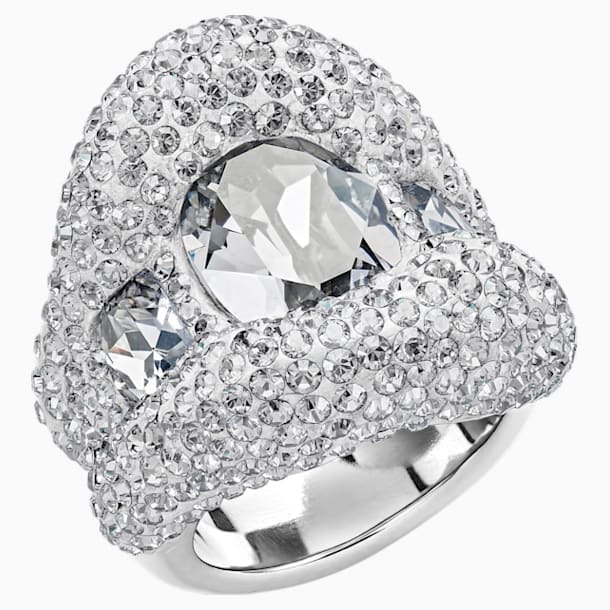 Tigris Ring, Grey, Palladium plated - Swarovski, 5484508
