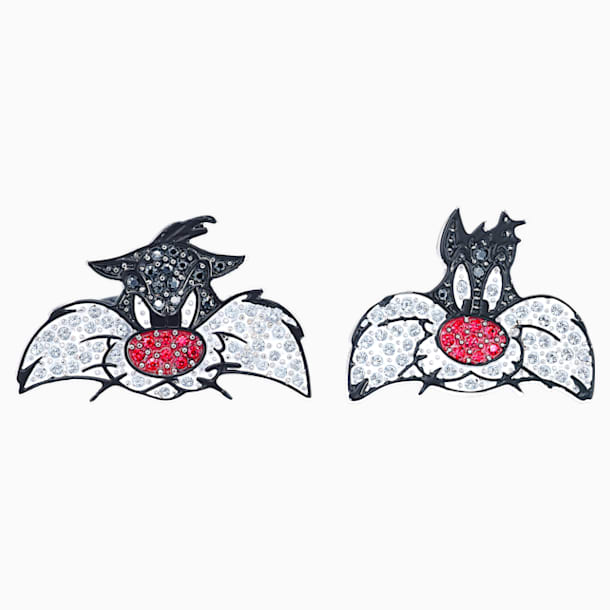 Looney Tunes Sylvester Cufflinks, Multi-colored, Rhodium plated - Swarovski, 5484687