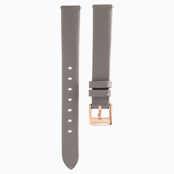 13mm 錶帶, 皮革, 灰褐色, 香檳金色色調PVD - Swarovski, 5485043
