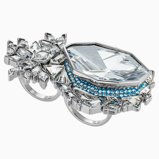 Ice Crack Motif Ring, Multi-colored, Ruthenium plated - Swarovski, 5486025