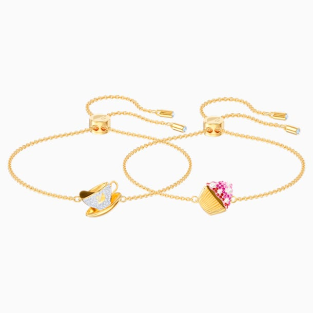 Nicest Set, Multi-coloured, Gold-tone plated - Swarovski, 5486079