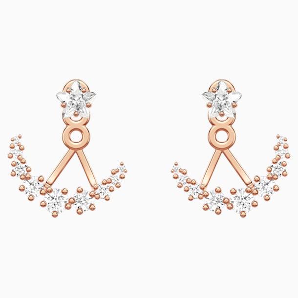 Orecchini Jackets Moonsun, Bianco, Placcato color oro rosa - Swarovski, 5486351