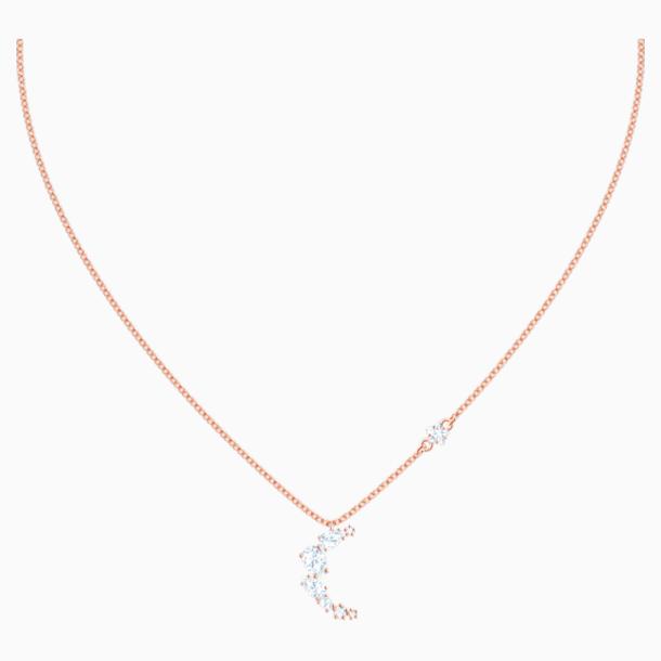 Penélope Cruz Moonsun Necklace, White, Rose-gold tone plated - Swarovski, 5486357