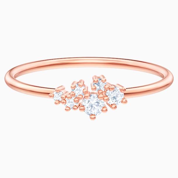 Moonsun Кольцо, Белый кристалл, Покрытие оттенка розового золота - Swarovski, 5486813