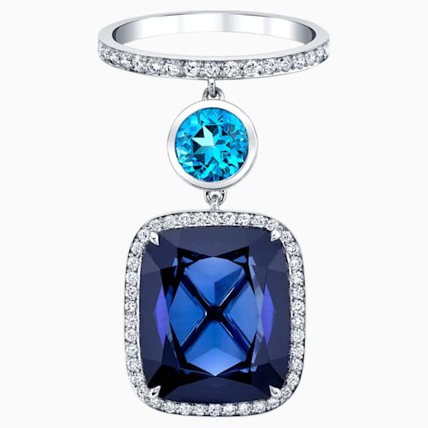 Azure Blue Ring, 18K White Gold, Size 48 - Swarovski, 5487268