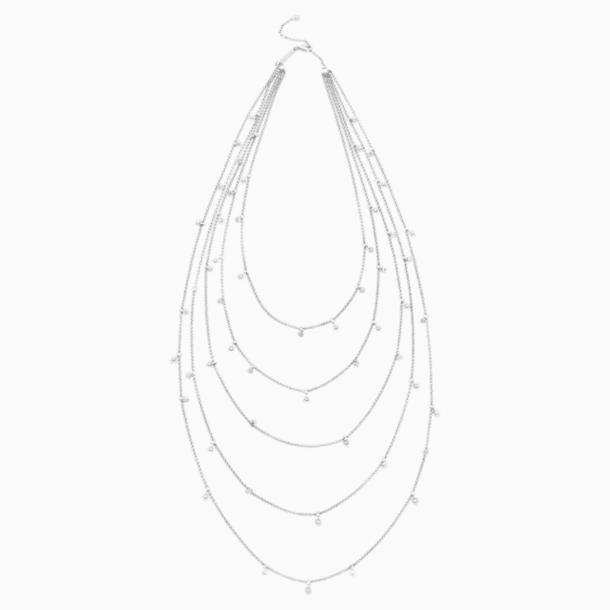 Collar Penélope Cruz Moonsun Multi, Edición Limitada, blanco, Baño de Rodio - Swarovski, 5489758