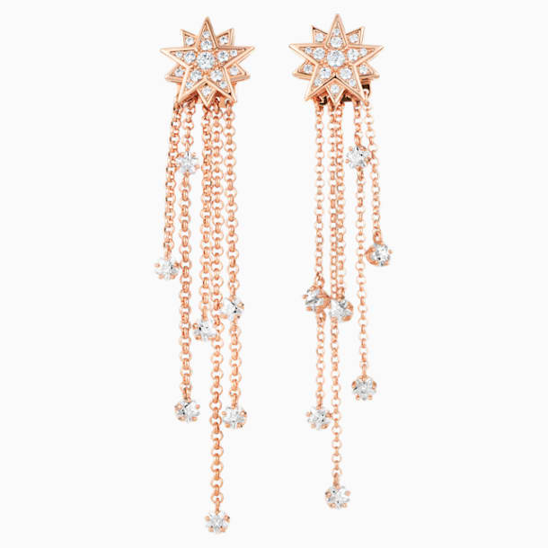 Penélope Cruz Moonsun Strand 穿孔耳環, 限量發行產品, 白色, 鍍玫瑰金色調 - Swarovski, 5489761
