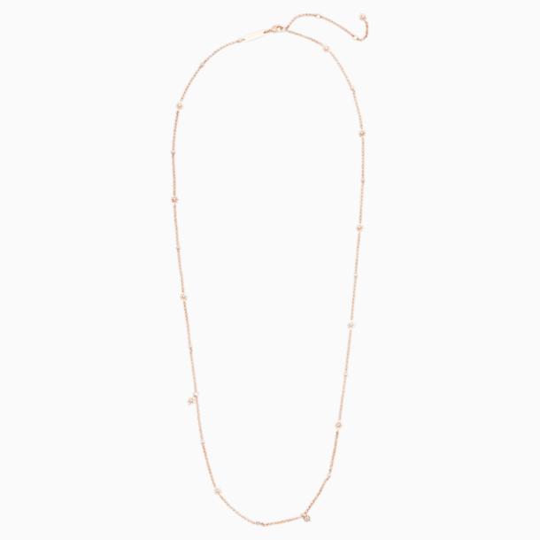 Collar Penélope Cruz Moonsun, Edición Limitada, blanco, Baño en tono Oro Rosa - Swarovski, 5489762