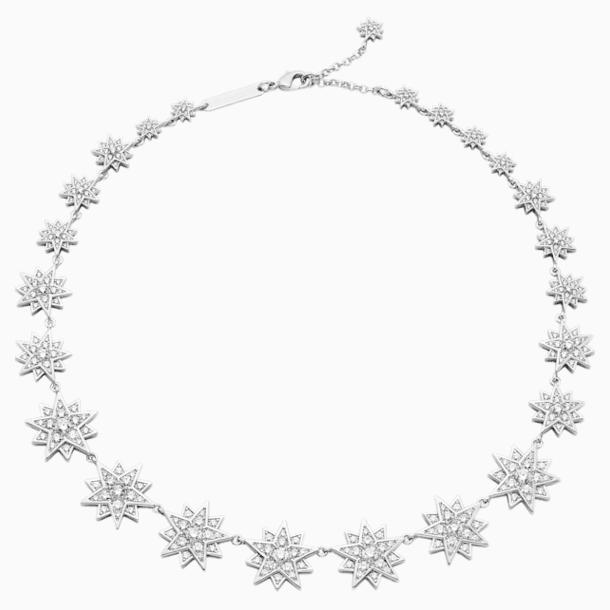 Penélope Cruz Moonsun Necklace, Limited Edition, White, Rhodium plated - Swarovski, 5489764