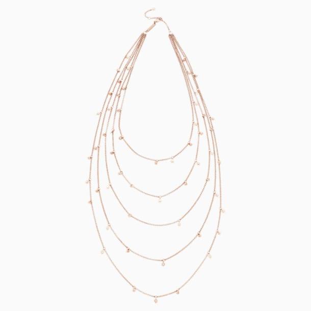Penélope Cruz Moonsun Multi 項鏈, 限量發行產品, 白色, 鍍玫瑰金色調 - Swarovski, 5489765