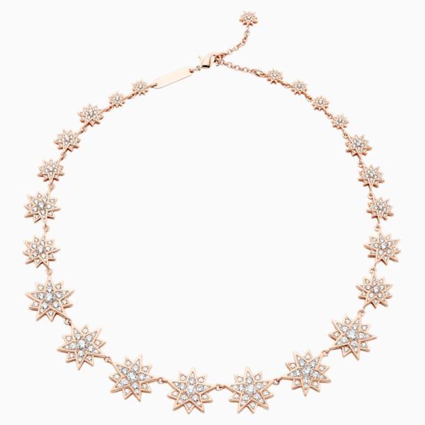 Penélope Cruz Moonsun Necklace, Limited Edition, White, Rose-gold tone plated - Swarovski, 5489773