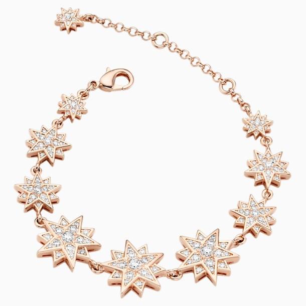 Braccialetto Moonsun, Bianco, Placcato color oro rosa - Swarovski, 5489777
