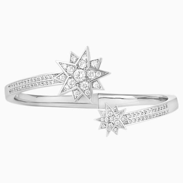 Penélope Cruz Moonsun Cuff, Limited Edition, White, Rhodium plated - Swarovski, 5490111