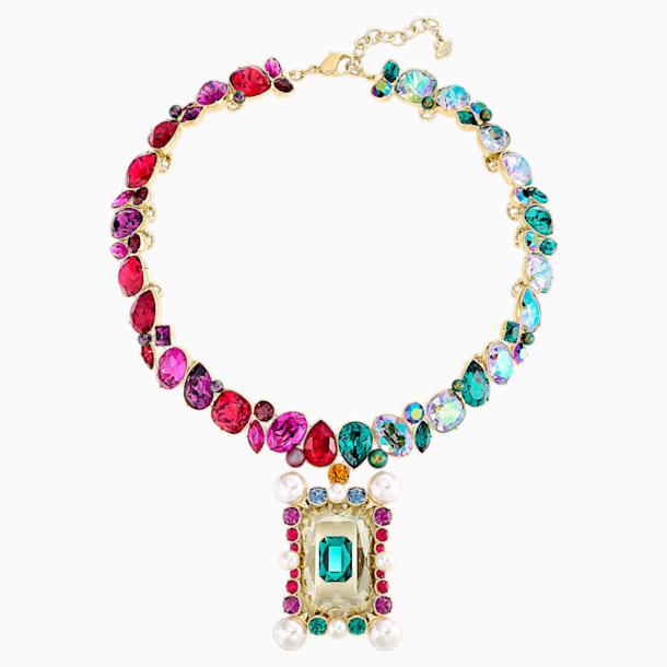 Vintage Opulescence Necklace, Multi-coloured, Gold-tone plated - Swarovski, 5490214