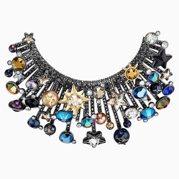 Nocturnal Sky 胸针, 彩色设计, 多种金属润饰 - Swarovski, 5490236