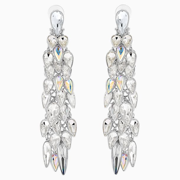 Polar Bestiary Clip Earrings, Multi-colored, Rhodium plated - Swarovski, 5490238