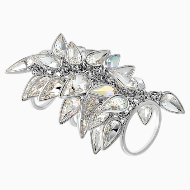 Polar Bestiary Cocktail Ring, Multi-coloured, Rhodium plated - Swarovski, 5490239