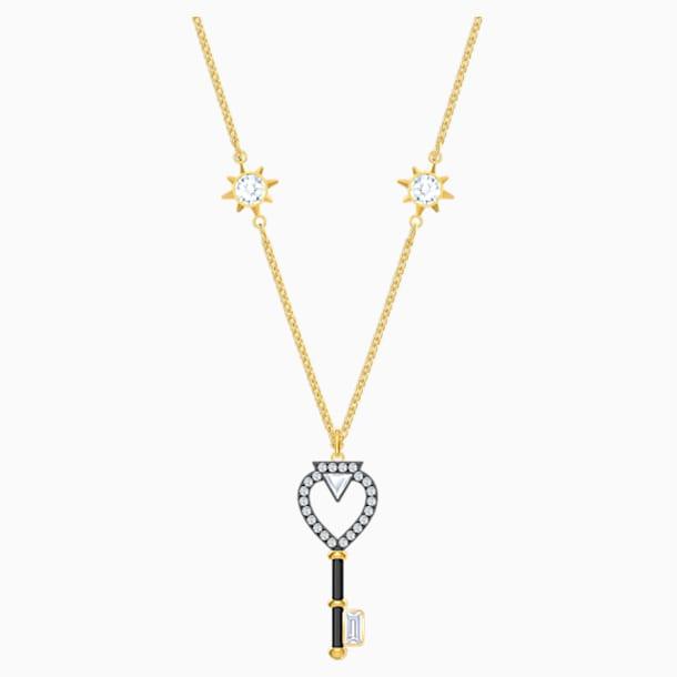 Tarot Magic Necklace, White, Gold-tone plated - Swarovski, 5490917
