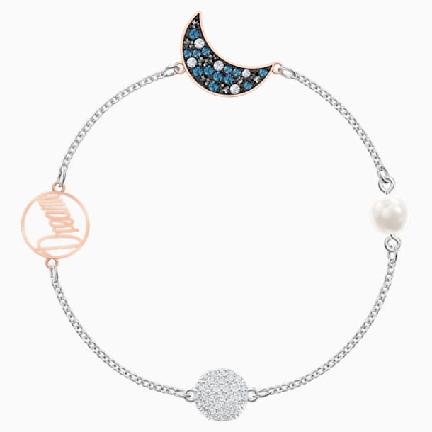 Swarovski Remix Collection Moon Strand, 彩色设计, 多种金属润饰 - Swarovski, 5490934