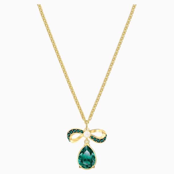 Black Baroque Pendant, Green, Gold-tone plated - Swarovski, 5490974