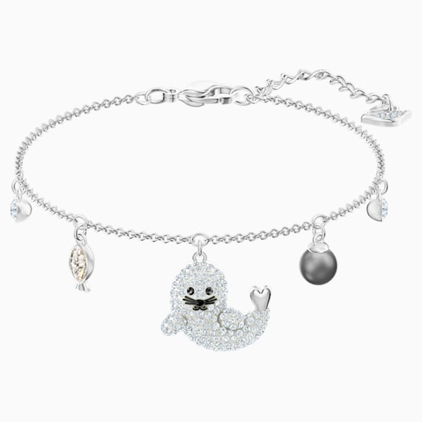 Polar Bracelet, Multi-coloured, Rhodium plated - Swarovski, 5491553