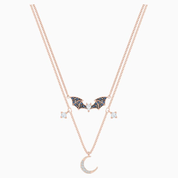 Prosperity Necklace, Multi-colored, Rose-gold tone plated - Swarovski, 5491565