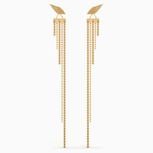 Fit Wonder Woman Pierced Earrings, Gold tone, Gold-tone plated - Swarovski, 5492148