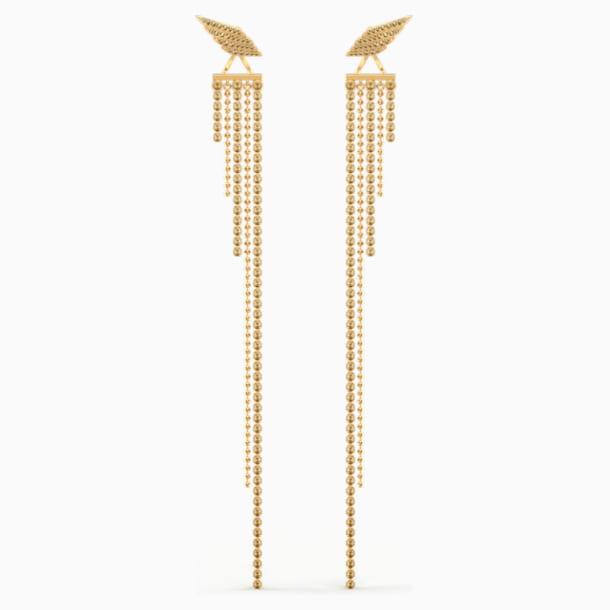 Fit Wonder Woman Pierced Earrings, Gold tone, Gold-tone plated - Swarovski, 5492148
