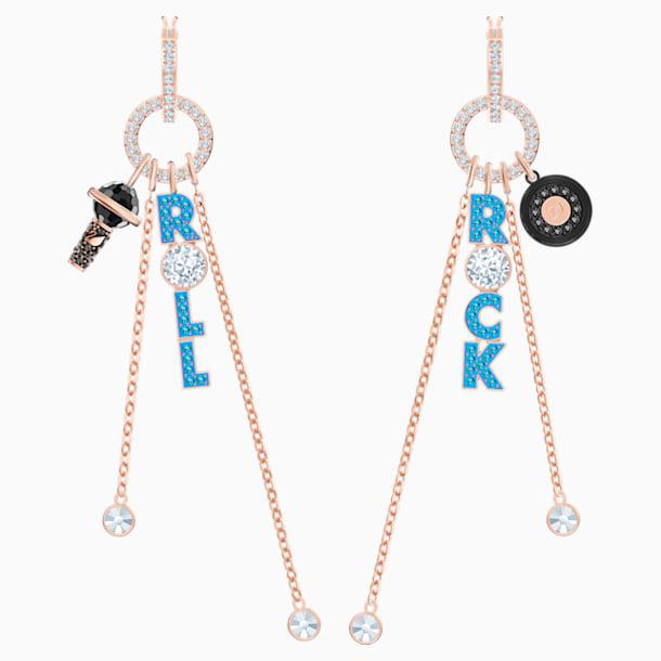 Play Hoop Pierced Earrings, Multi-colored, Mixed metal finish - Swarovski, 5492811