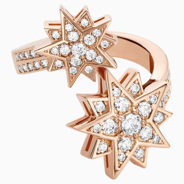 Penélope Cruz Moonsun Ring, Limited Edition, White, Rose-gold tone plated - Swarovski, 5493037