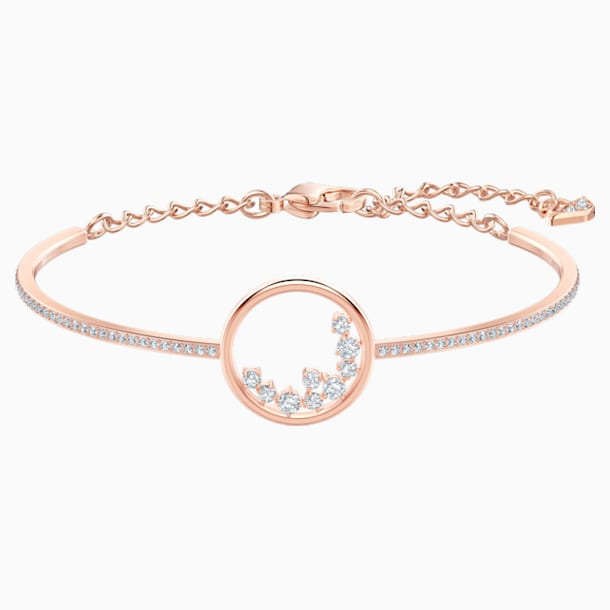 North Bracelet, White, Rose-gold tone plated - Swarovski, 5493393