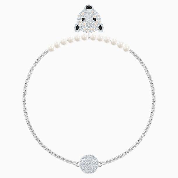 Braccialetto Polar Bestiary, bianco, Placcatura rodio - Swarovski, 5493706