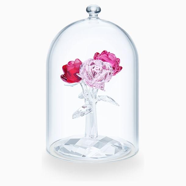仿水晶钟罩下的玫瑰花束 - Swarovski, 5493707