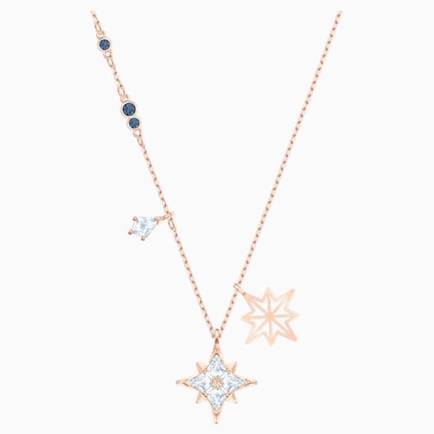 Μενταγιόν Swarovski Symbolic Star, λευκό, επιχρυσωμένο σε χρυσή ροζ απόχρωση - Swarovski, 5494352